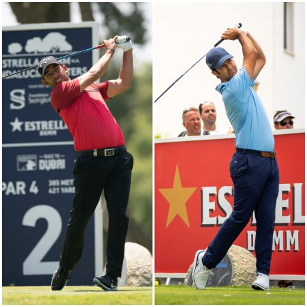 Pablo Larrazábal and Jorge Campillo in the 2019 Estrella Damm N.A. Andalucía Masters. © Real Club Valderrama