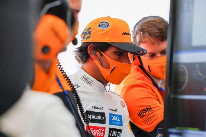 Carlos Sainz, ayer en Spa © McLaren