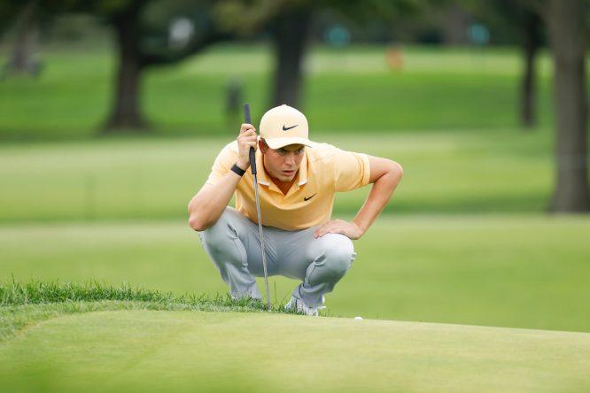 Eduard Rousaud durante la primera ronda del US Open 2020. © USGA via Golffile
