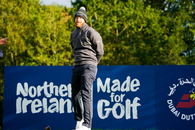 Sebastian Soderberg, en el Irish Open ayer © Golffile | Fran Caffrey