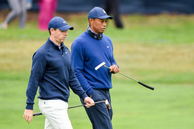 Rory McIlroy y Tiger Woods © Golffile   Ken Murray