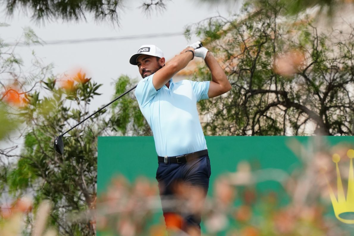 Sebastián García Rodríguez en la ronda final en Dom Pedro Golf. © Golffile | Phil Inglis
