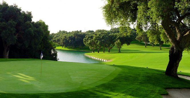 A view of Real Club Valderrama 10th hole, an Andalusian icon. © Real Club Valderrama