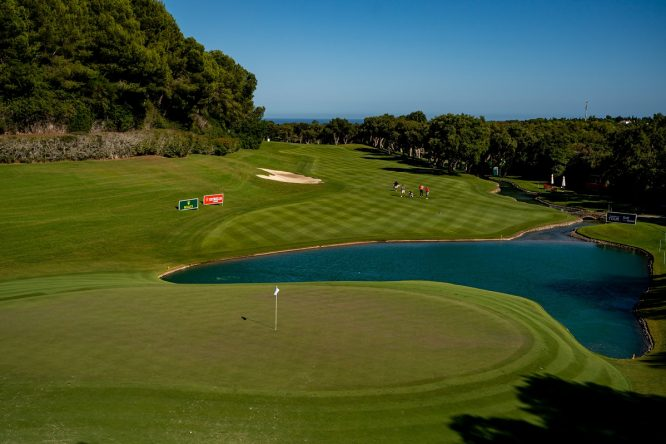 A view of Real Club Valderrama 17th hole, scene for the Golf for Good initiative. © Real Club Valderrama