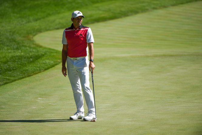 Sergio García durante la segunda jornada en Shadow Creek. © Golffile | Ken Murray
