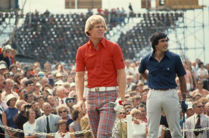 Johnny Miller y Severiano Ballesteros en el The Open 1976.