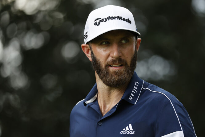 Dustin Johnson, en el Masters © Augusta National