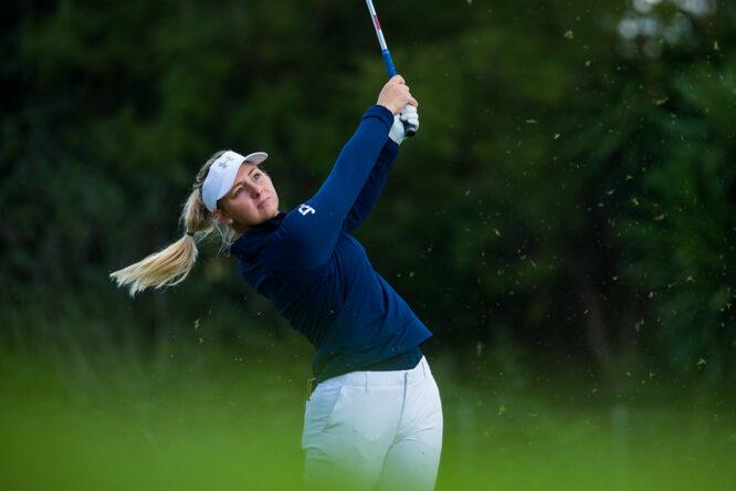 Emily Kristine Pedersen en la tercera ronda del Open de España. © Tristan Jones