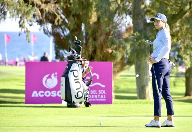 Azahara Muñoz este martes en el Real Club de Golf Guadalmina.