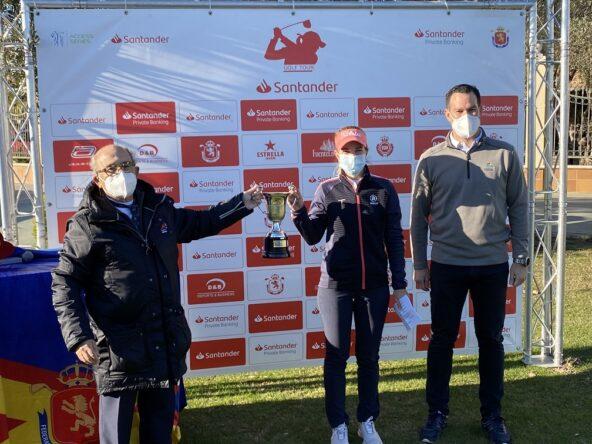 Luna Sobrón, ganadora del Santander Campeonato de España de Profesionales 2020.