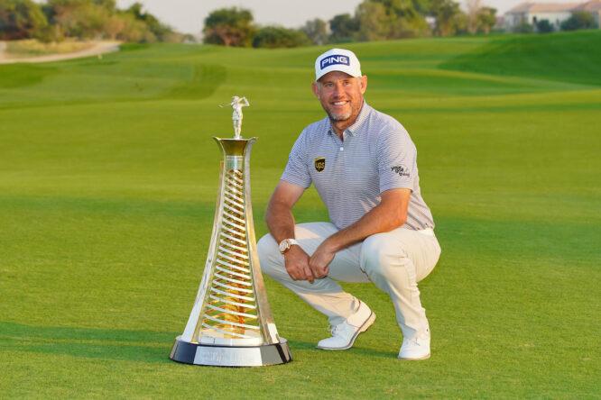 Lee Westwood, ganador de la Race to Dubai. © Golffile | Fran Caffrey