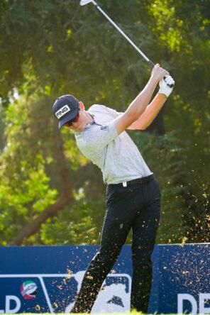 Wilco Nienaber en la primera jornada en Jumeirah Golf Estates. © Golffile   Fran Caffrey