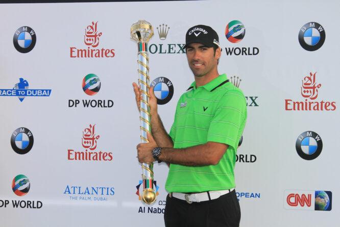 Álvaro Quirós, ganador de la Final de Dubai en 2011. © Golffile   Denise Cleary