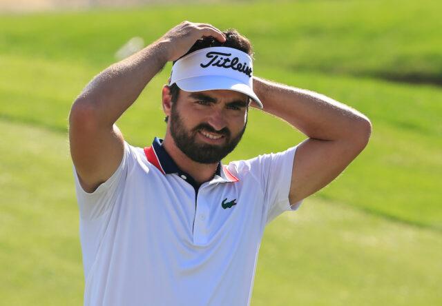 Antoine Rozner tras ganar el Golf in Dubai Championship 2020. © Golffile | Oisín Keniry