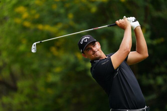 Christiaan Bezuidenhout esta semana en el Gary Player Country Club de Sun City. © Golffile | Thos Caffrey