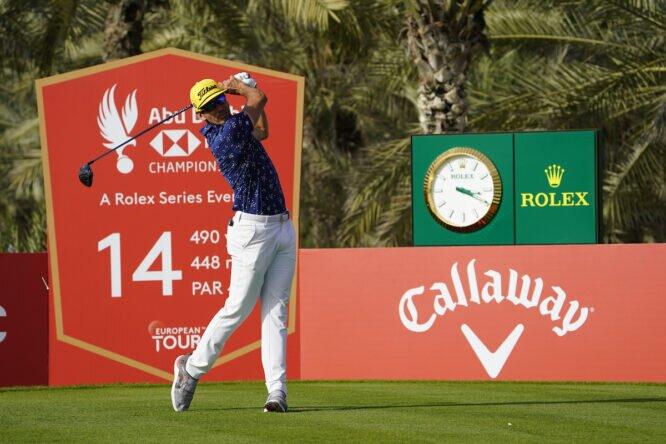 Rafa Cabrera Bello durante la jornada final del Abu Dhabi HSBC Championship. © Golffile | Fran Caffrey