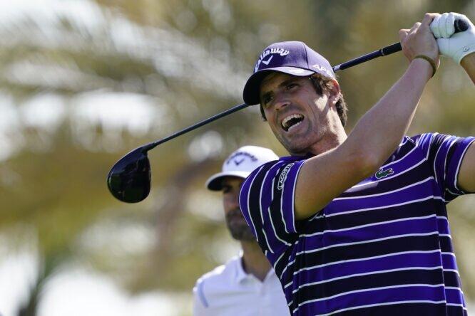 Nacho Elvira esta semana en el Abu Dhabi Golf Club. © Golffile | Eoin Clarke