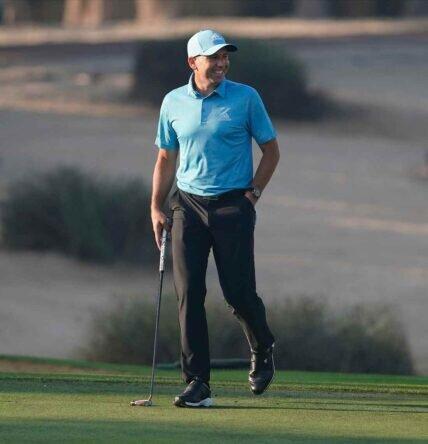 Sergio García durante la primera jornada en el Emirates Golf Club. © Golffile | Oisín Keniry