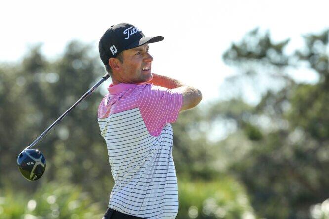 Webb Simpson ha conquistado el record de media de golpes por vuelta en una temporada. © Golffile | Scott Halleran
