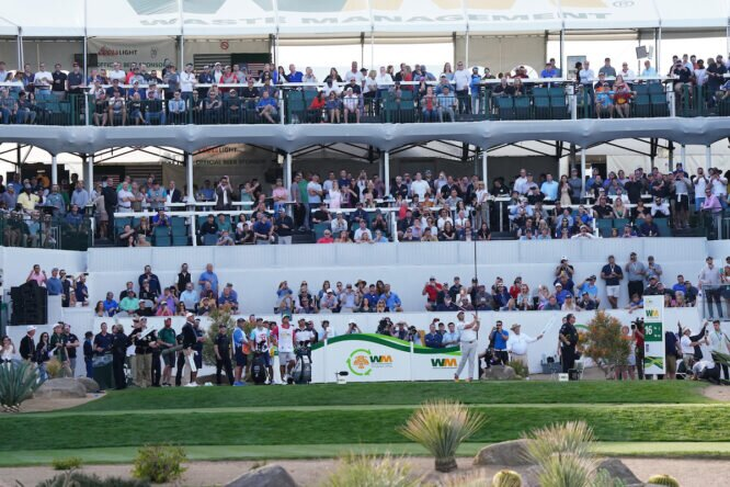 Jon Rahm, en el estadio del Phoenix Open en 2020 © Golffile | Phil Inglis