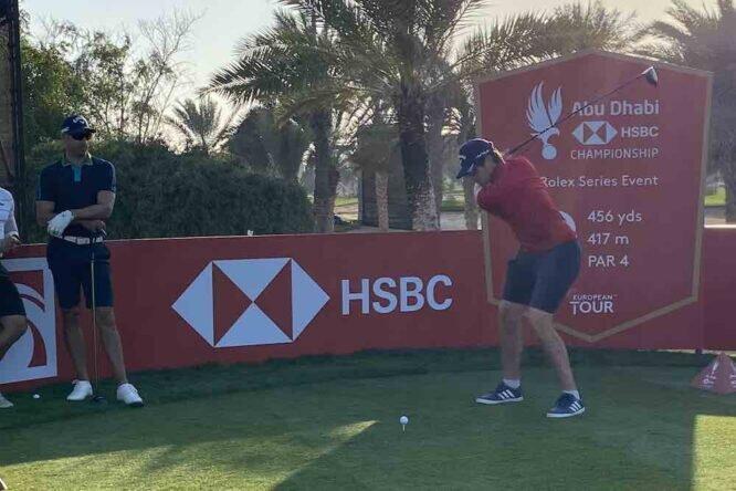 Nacho Elvira, hoy lunes en el Abu Dhabi Golf Club. © Ten Golf