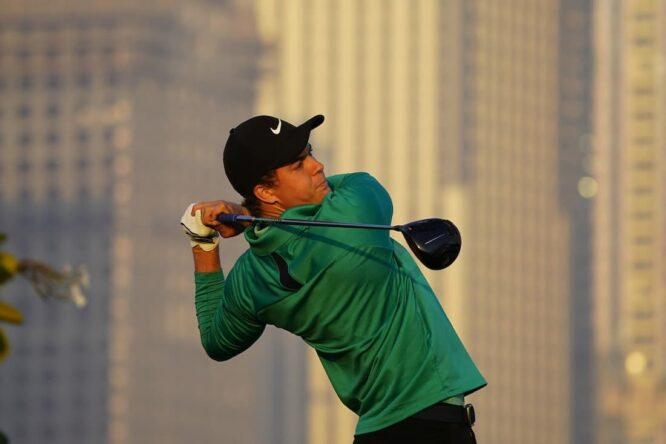 Eduard Rousaud en el Omega Dubai Desert Classic 2021. © Golffile | Eoin Clarke
