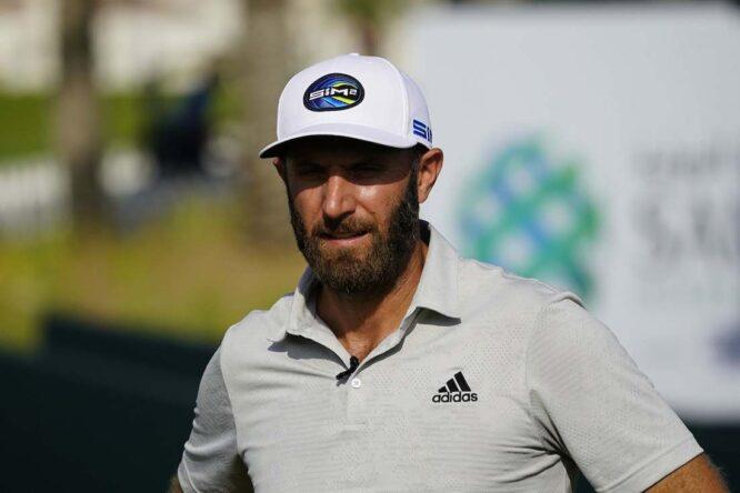 Dustin Johnson durante la ronda de prácticas del martes en el Royal Greens Golf & Country Club. © Golffile | Eoin Clarke