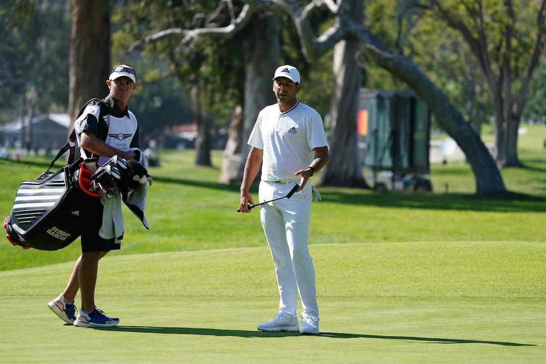Sergio García, el año pasado en el Riviera Country Club. © Golffile | Phil Inglis