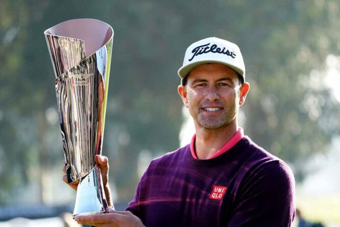 Adam Scott, vigente defensor del título esta semana en Riviera. © Golffile | Phil Inglis