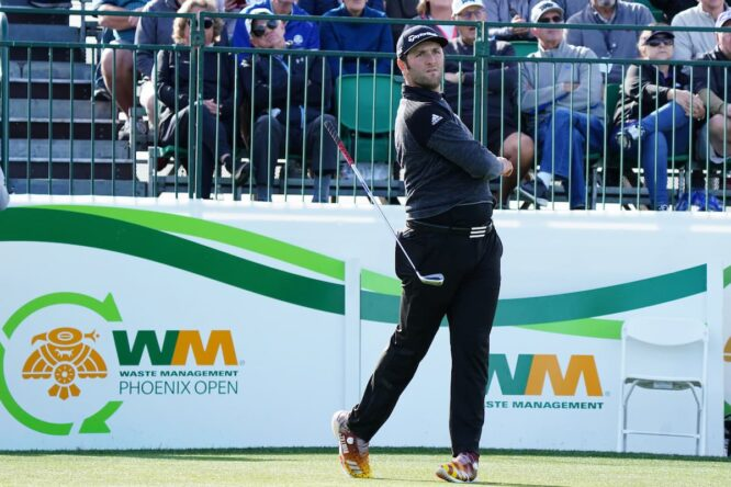 Jon Rahm, en el WM Phoenix Open de 2020 © Golffile | Phil Inglis