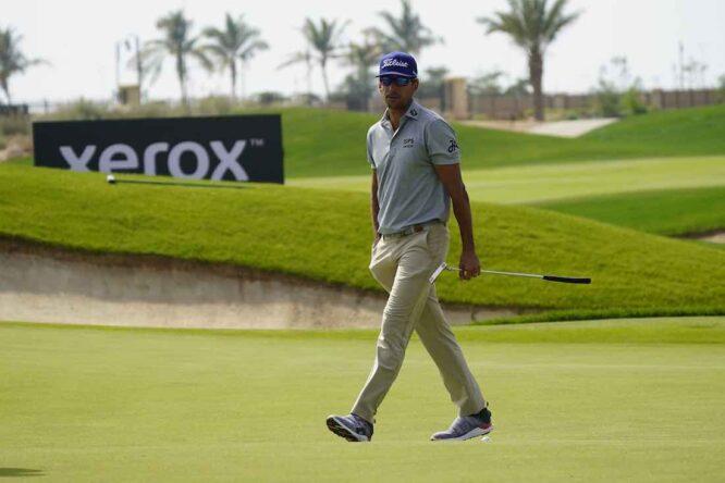 Rafa Cabrera Bello durante la primera ronda del Saudi International. © Golffile | Eoin Clarke