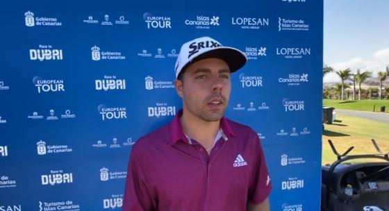 Alejandro del Rey tras su vuelta final en Meloneras Golf.