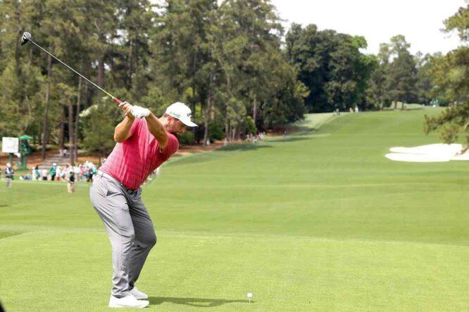 Jon Rahm durante la ronda final del Masters de Augusta. © Golffile | Scott Halleran