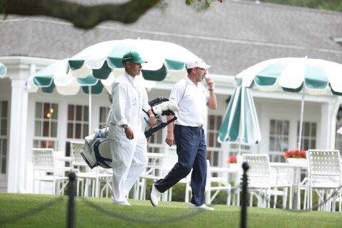 José María Olazábal durante la segunda ronda del Masters de Augusta. © Golffile | Scott Halleran