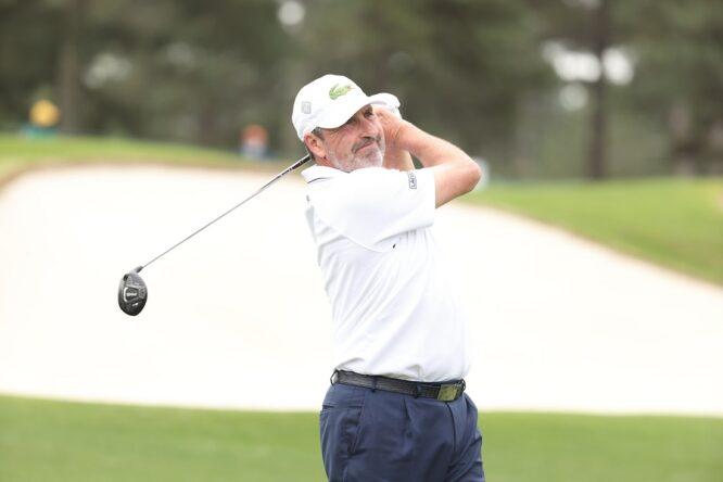 José María Olazábal durante la segunda jornada del Masters de Augusta. © Golffile   Scott Halleran