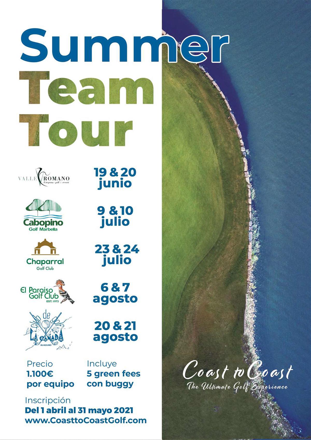 Calendario del Summer Team Tour