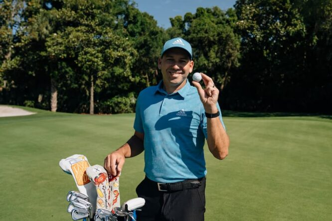 Sergio García, con su nuevo material © TaylorMade Golf