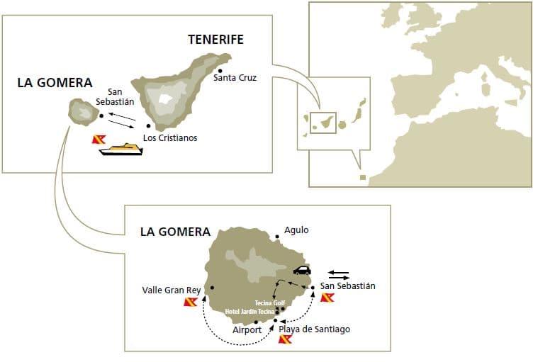 Cómo llegar a la isla de La Gomera