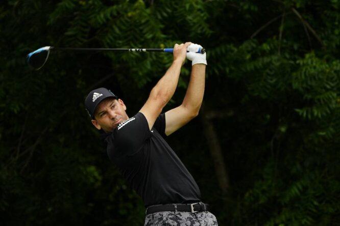 Sergio García durante la segunda ronda en el Colonial Country Club. © Golffile   Fran Caffrey