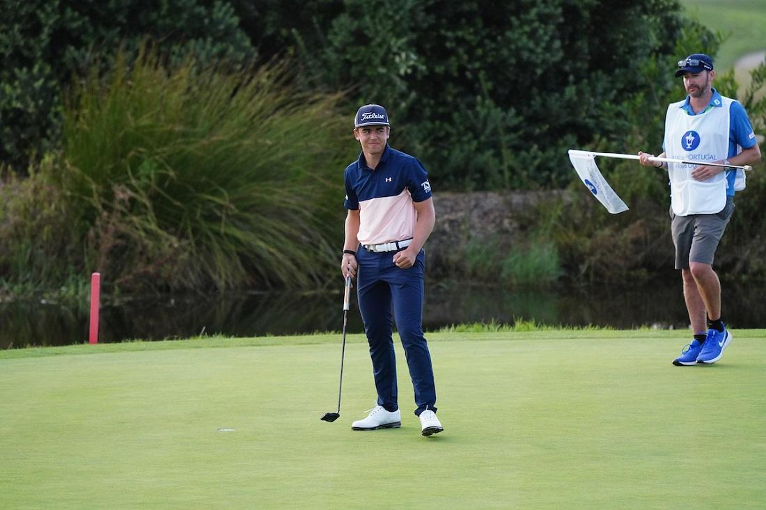 Garrick Higgo en la jornada final del Open de Portugal 2020. © Golffile   Phil Inglis