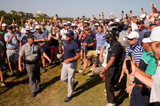 Mickelson, en la última ronda del PGA Championship © PGA of America