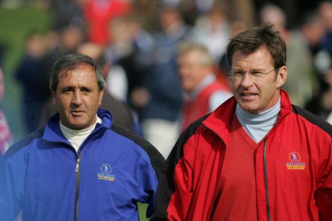Severiano Ballesteros y Nick Faldo. © Golffile | Eoin Clarke