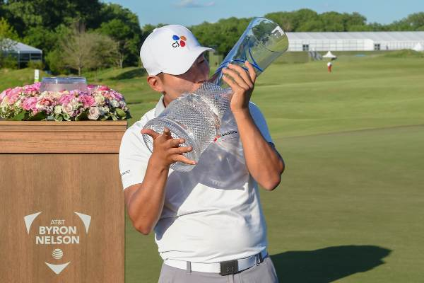 Sung Kang, ganador del AT&T Byron Nelson 2019. (© Golffile | Ken Murray)