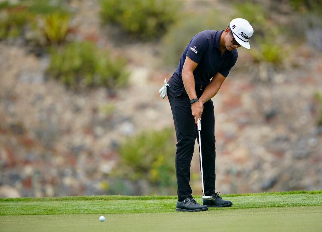 Garrick Higgo durante la segunda jornada del Open de Tenerife. © Golffile   Oisín Keniry