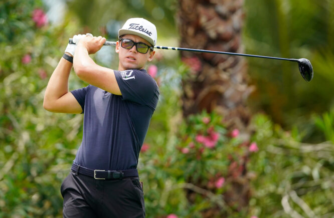 Garrick Higgo en Golf Costa Adeje durante el Tenerife Open. © Golffile | Oisín Keniry