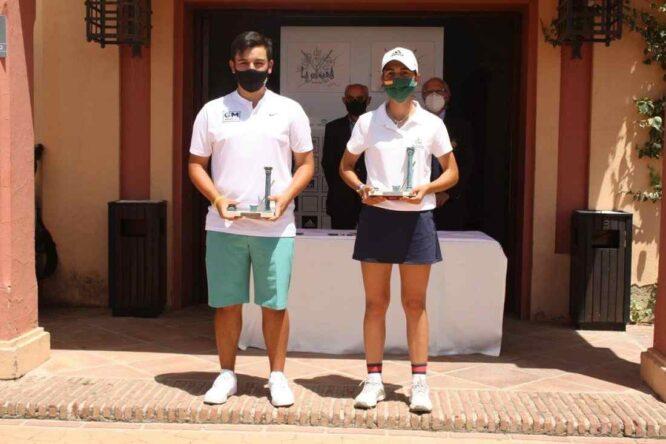 Gonzalo García Parada y Violeta Fernandez-Tagle, campeones del XII Trofeo Barbesula en Club de Golf La Cañada.