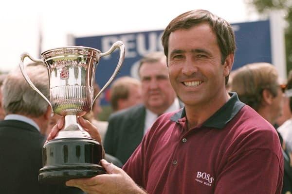 Seve, con su último trofeo del Open de España en 1995