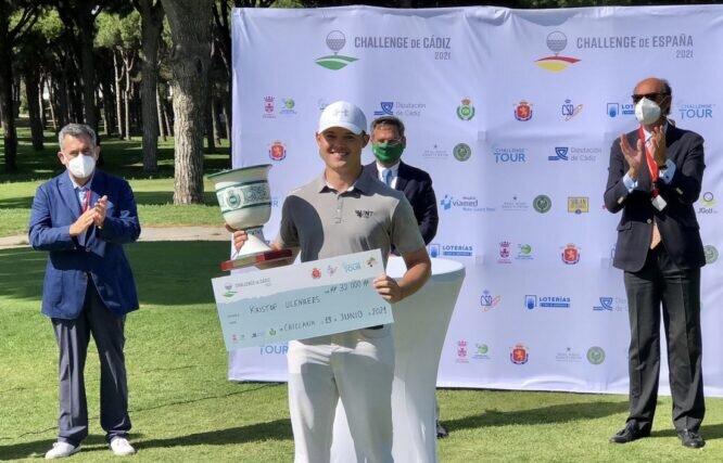 Kristof Ulenaers, ganador del Challenge de Cádiz. © Golf Circus