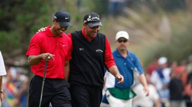 Tiger Woods y Rocco Mediate en el play off del US Open 2008 en Torrey Pines. © USGA