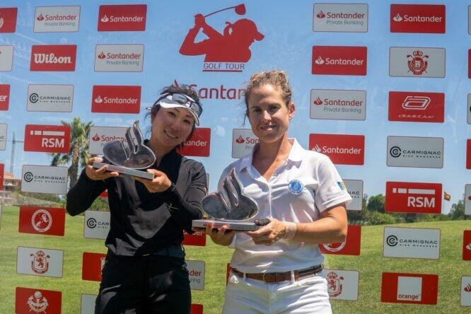 Maho Hayakawa y Almudena Blasco, campeonas del Santander Golf Tour Valencia Dobles.